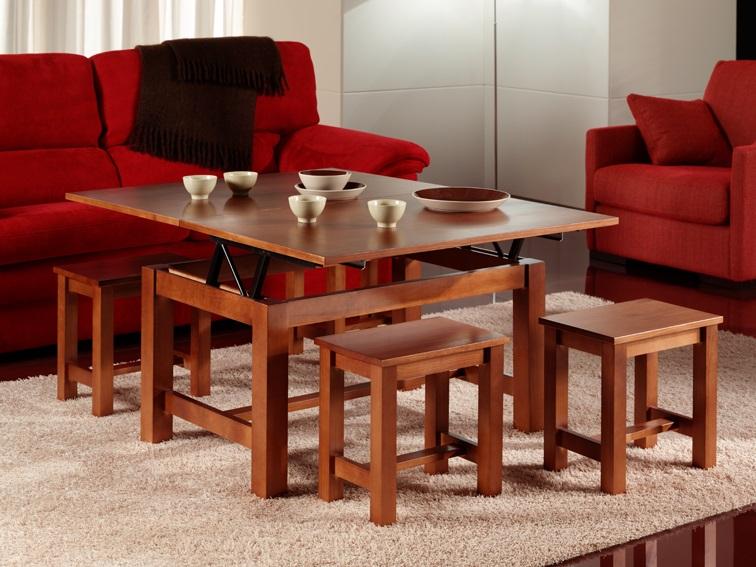 Comprar mesa de centro elevable y extensible lamesadecentro for Mesa comedor cerezo