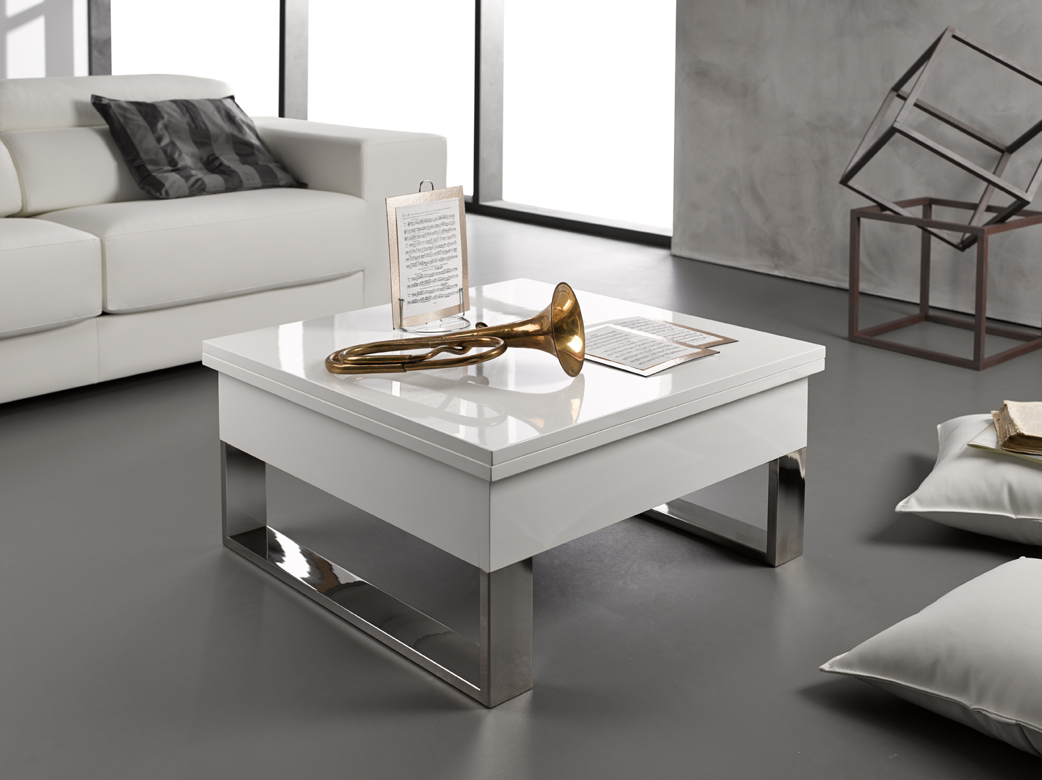 mesa de centro blanca online la mesa de centro tienda. Black Bedroom Furniture Sets. Home Design Ideas