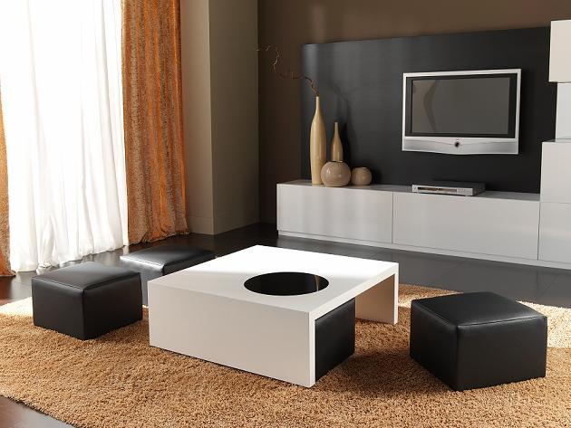 Comprar mesas de centro cuadradas blancas - Mesas de centro salon ...