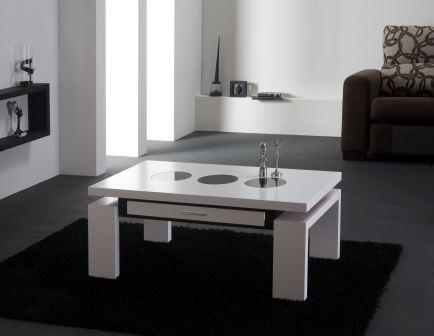 Mesa centro blanca artesanal online lamesadecentro - Mesa centro blanca ...
