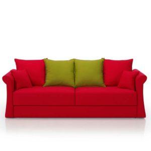 Sofás cómodos, color rojo