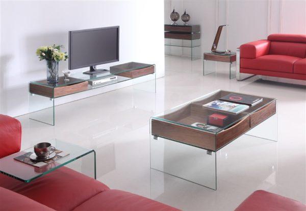 Mesas de centro de cristal BAC001 tv