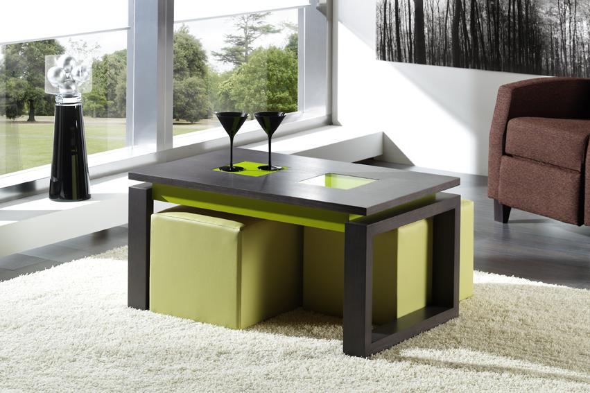 Mesas de centro de cristal comprar online la mesa de centro - Mesa de centro con puff ...