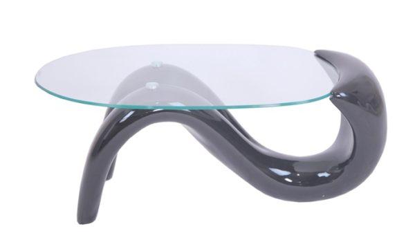 Mesa de centro blanca cristal BOD001