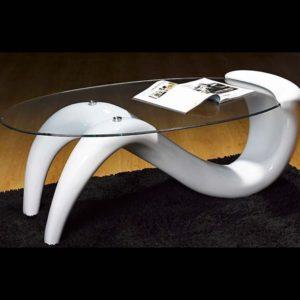 Mesa de centro blanca cristal
