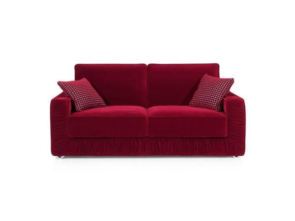 Sofá cama económico, 3 plazas, color rojo