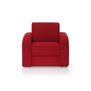 Sillón de diseño rojo
