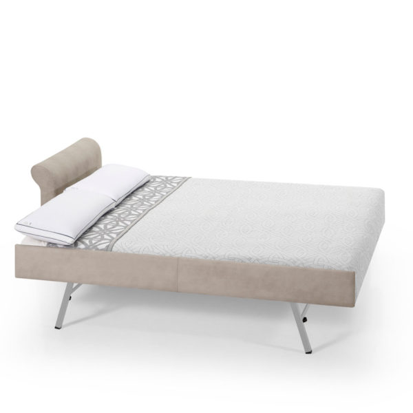 Sofá cama chaise longue 2 plazas abierto, disponible en diferentes colores y acabados