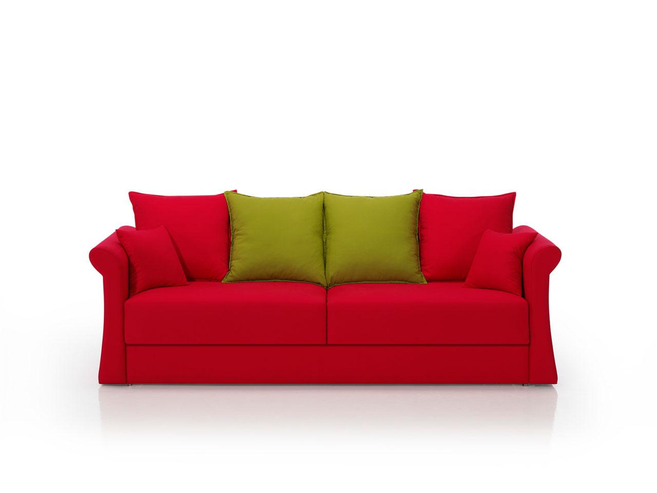 Sofa cama rojo online la mesa de centro - Sofas camas comodos ...