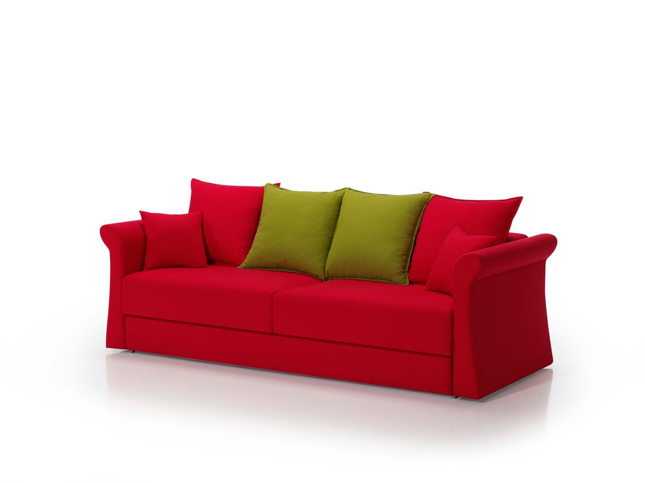 Sofa cama rojo online la mesa de centro for Sofa cama polipiel