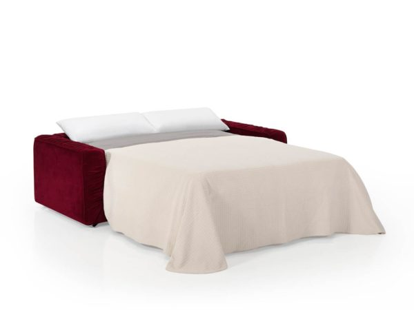 Sofá vintage convertible en cama mediante sistema italiano