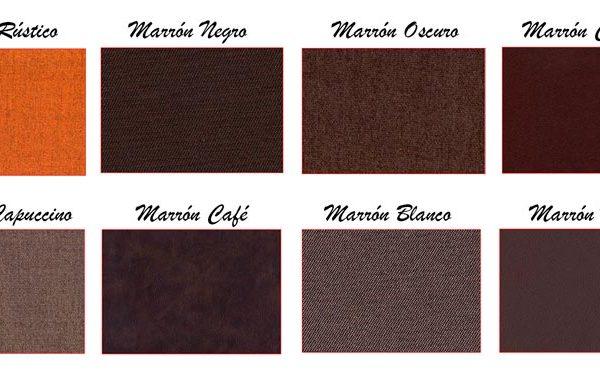 Colores del tejido: marrón