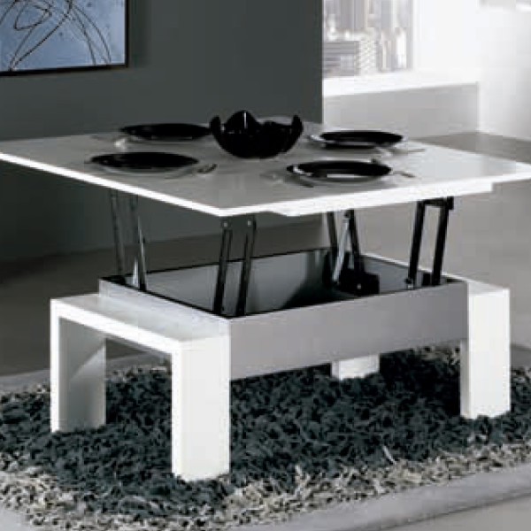 Comprar mesa centro elevable y extensible lamesadecentro for Mesas de salon blancas
