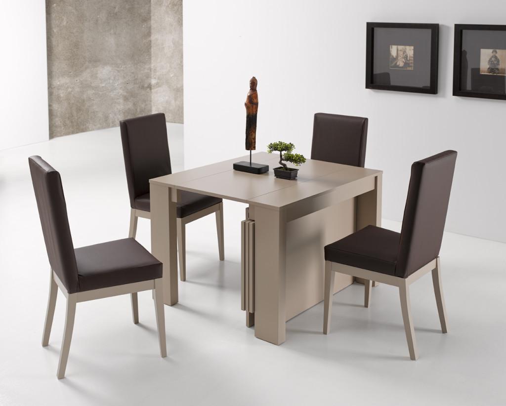Mesas de centro para un salon comedor peque o la mesa de - Mesas abatibles comedor ...