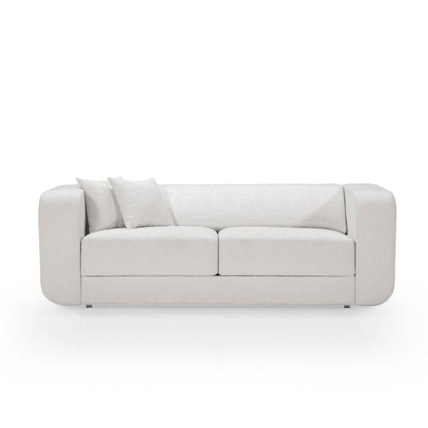 Sofá 3 plazas de diseño blanco, disponible en otros colores y acabados