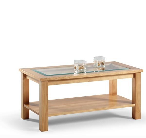 Estilos de decoración, mesa de centro madera natural