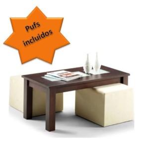mesa de centro con puff - la mesa de centro