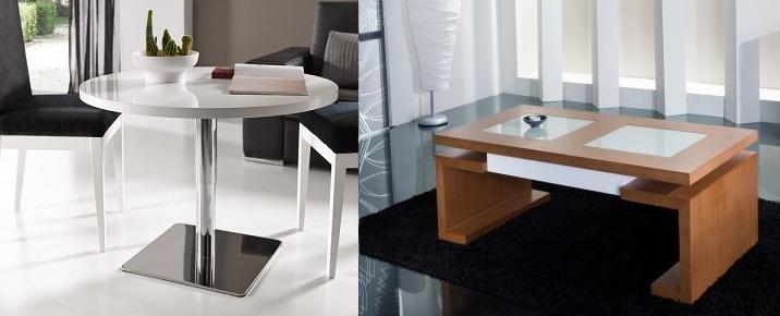 mesa de centro de madera metal - lamesadecentro