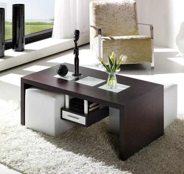 Mesas de centro con puffs blog decoraci n la mesa de for Mesas de centro bonitas