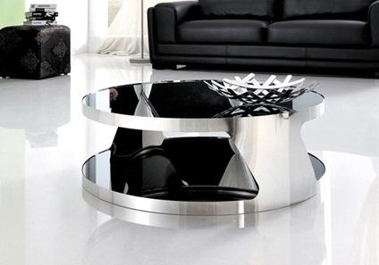 Mesa baja sal n de metal y cristal online la mesa de centro - Mesa baja salon ...