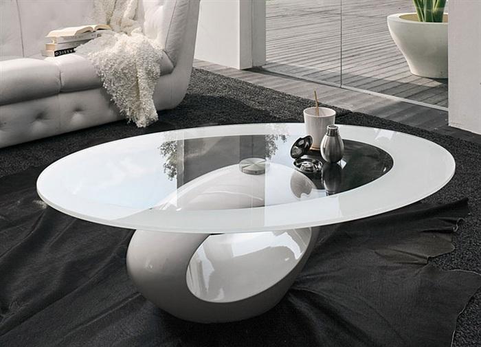 mesa centro diseo blanca bon la mesa de centro