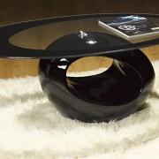 Mesa centro diseño negra BON001 - La Mesa de Centro