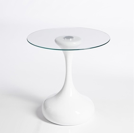 Mesas auxiliares de diseño blanca DRO001 - La Mesa de Centro