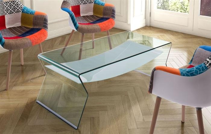 Mesas auxiliares de salon de cristal online la mesa de for Mesas de salon de cristal