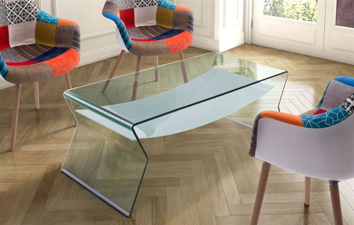 Mesas auxiliares de salon de cristal online la mesa de for Cristal mesa a medida