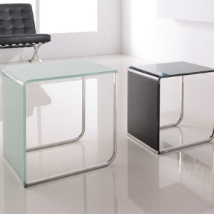Mesas auxiliares modernas de cristal CAM001 - La Mesa de Centro