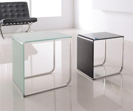mesas auxiliares modernas de cristal 2 mesas nido la