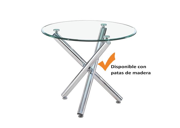 Mesas auxiliares salon de cristal y acero la mesa de centro for Mesas auxiliares de cristal