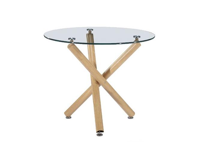 Mesas auxiliares salon de cristal y acero la mesa de centro - Mesas de centro de diseno de cristal ...