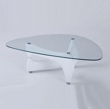 Mesas de cristal de diseño blanca NOGU001 - La Mesa de Centro