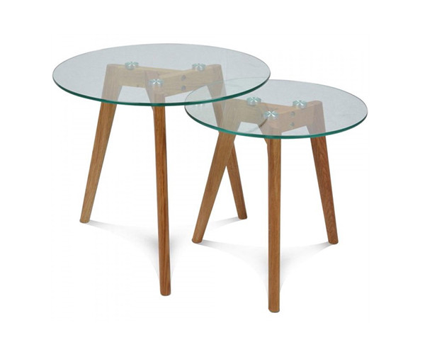 mesas auxiliares de cristal NAI001 - la mesa de centro