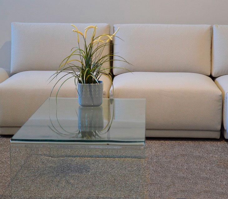 mesas de centro de cristal - La mesa de centro