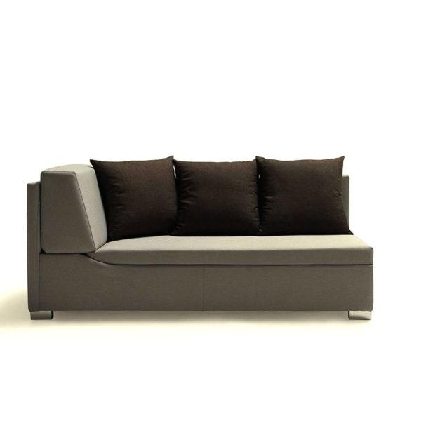 Sofá cama individual de color gris