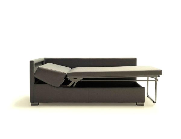 Sofá cama individual color gris abierto