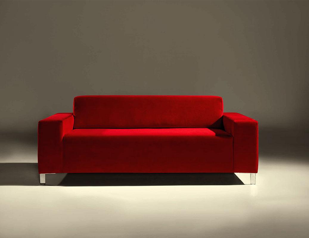 Sof 225 S De Dise 241 O En Color Rojo La Mesa De Centro