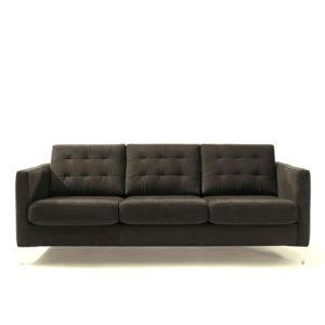 Sofá vintage gris, disponible en otros colores y acabados