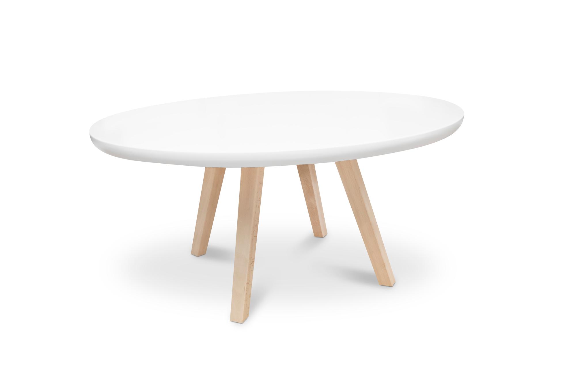 Mesas ovaladas de centro blancas tienda online de mesas for Mesa de centro blanca
