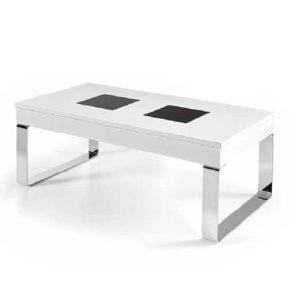 Mesa de centro con patas metálicas