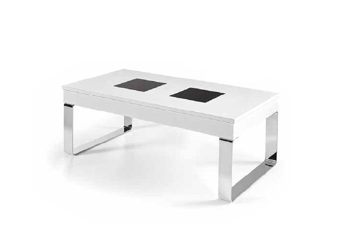 Mesa de centro con patas met licas estilo n rdico mesas - Patas metalicas para mesas ...