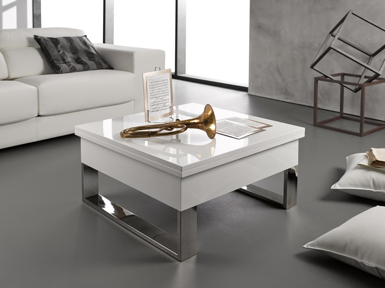 mesas de centro con patas de metal
