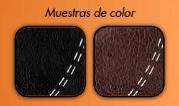 Colores negro y marrón chocolate