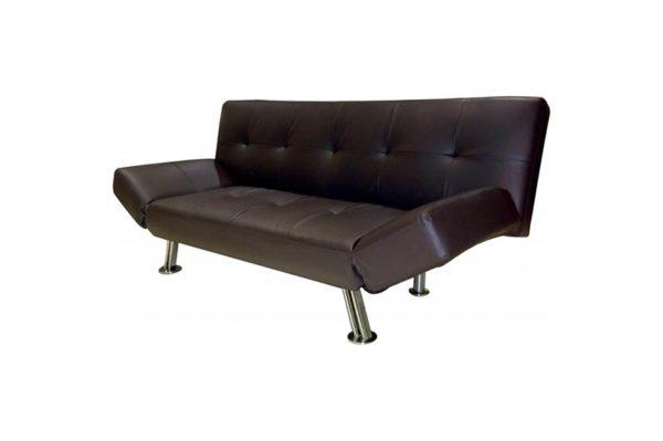 Sofá clic clac color negro, precio barato
