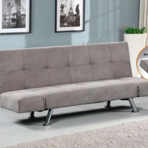 Sofá cama clic clac color gris marengo con brazos articulados