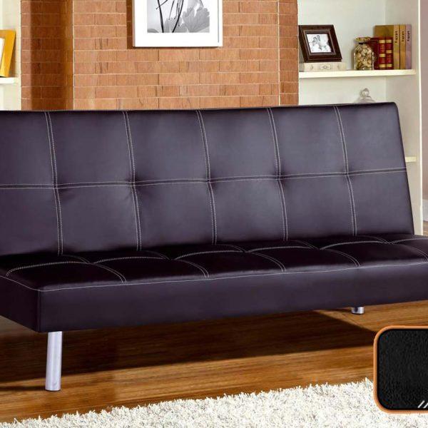 Sofá clic clac cama color negro