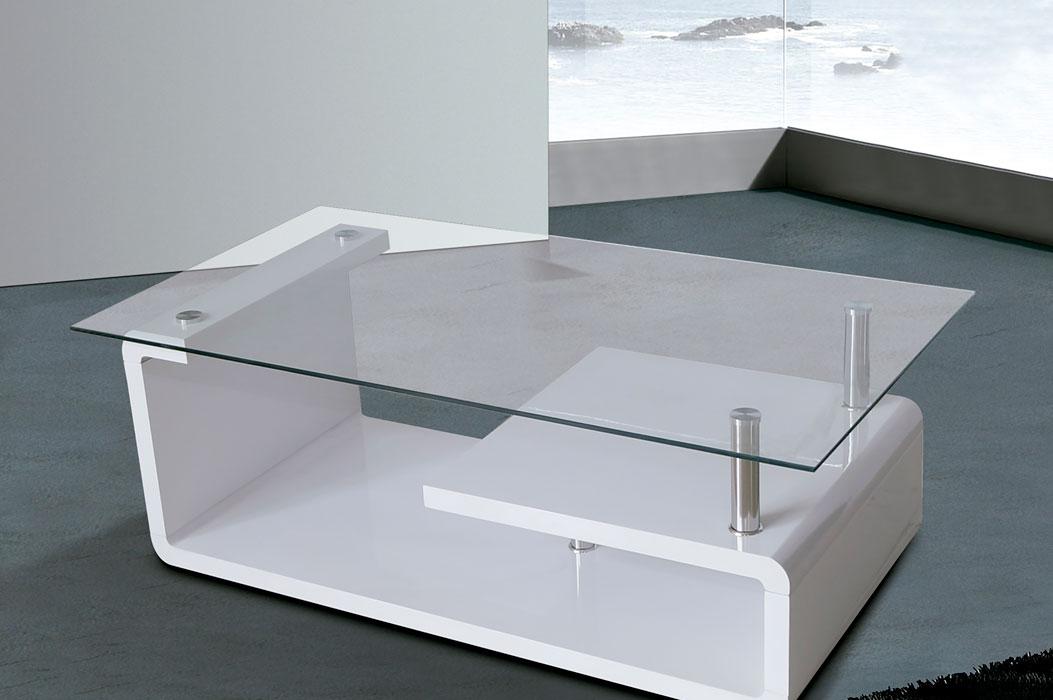 Mesa de sala de dise o moderno la mesa de centro for Mesa de centro blanca