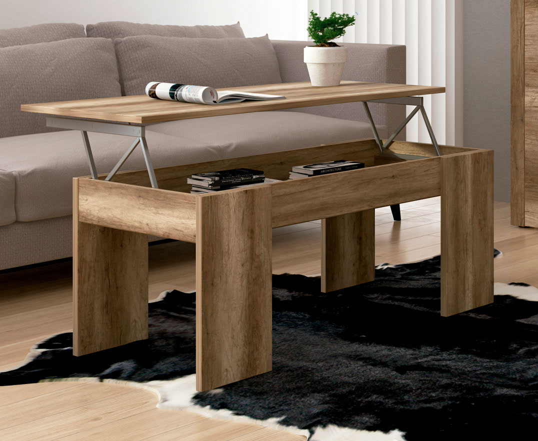 Mesas de centro minimalistas elevables online la mesa de - Mesa centro madera ...